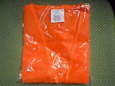 New Reflective Safety Vest Orange With Strips Work Construction Traffic Amp Others
