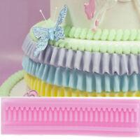 Skirt folds silicone mold fondant mould cake decorating tool chocolate moGD