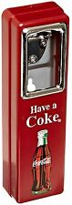 Coke Coca Cola Bottle Opener and Cap Catcher Wall Mount Stationary NEW