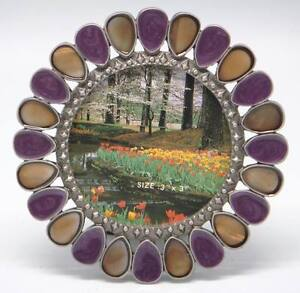 3 Inch Round Lavender Mother of Pearl Accents Item #1038. ROCKET FAST SHIPPING!