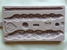 Karen Davies NEW Rustic Cable Knit Sugarcraft Mould     FAST DESPATCH