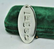 Vintage Sterling Silver key chain pendant with a Silver jubilee feature hallmark