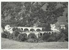 130695 rarissima cartolina con treno ferrovia locarno domodossola