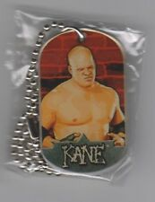 KANE Topps WWE 2007 'UK Exclusive' Two Sided Dog Tag & Chain RARE!