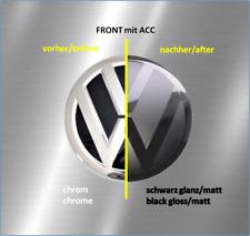 DIY-Folierung-Set schwarz passt für ACC-Front VW-Emblem Golf VII, Passat, Touran
