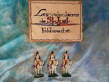 Plats d'étain HEINRICHSEN - Zinnfiguren - Flat tin - 3 hussards de St Just