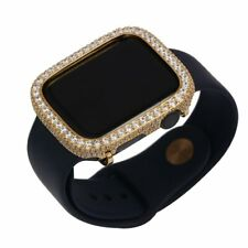 Bling apple watch Series 4/5 bezel Face case cover Zirconia Diamond Gold 44mm