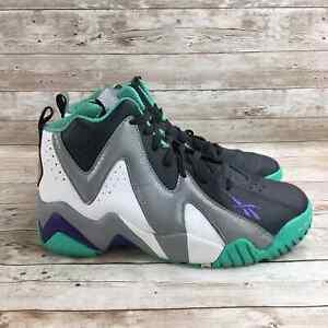 Reebok Kamikaze 2 Mens Size 7 Gray Green Athletic Training Basketball Sneakers