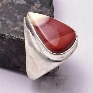 Mookaite Jasper Ethnic Handmade Man's Ring Jewelry US Size-9 AR 31285