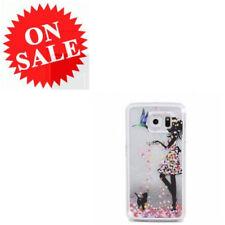 Sprint Quicksand Case For Samsung Galaxy S6 Girl Bird Sparkle Glitter Back Cover