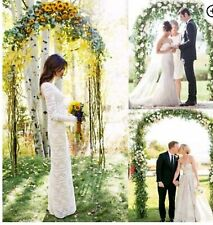 7.9ft Metal Army Green Arch Wedding Party Prom Garden Floral Decoration New