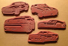 5 Ford MUSTANG car Unmounted RUBBER STAMP Set 1966 1969 1973 2005 1979 2004
