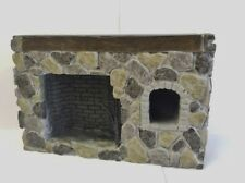 Fieldstone Walk-in fireplace, Dolls House Miniature Cottage Farm House Accessory