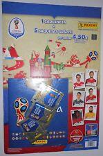 Panini WM 2018 Russia World Cup PORTUGAL Sticker Starter Album + 5 Packs Tüten