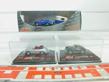 BO884-0,5# 3x Schuco H0/1:87 Porsche 356: 21755 (mit Wohnanhänger) etc, NEUW+OVP