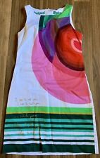 Desigual ~ Women's Size 36 Small Sleeveless Dress ~ Circles ~ Pockets