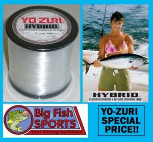 YO-ZURI HYBRID Fluorocarbon Fishing Line 40lb/600yd CLEAR COLOR FREE USA SHIP!