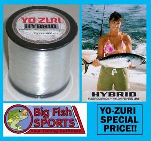 YO-ZURI HYBRID Fluorocarbon Fishing Line 40lb/600yd CLEAR COLOR FREE USA SHIP!