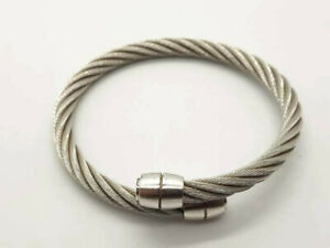CHARRIOL CELTIC CABLE BRUSHED OLIVES GODRONS BANGLE BRACELET - AUTHENTIC