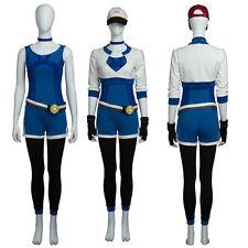 Blue Pokemon Trainer Go Uniform Team Valor Instinct Mystic Cosplay Costume