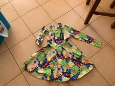 ROCK YOUR BABY NEW SEASON MONTEREY LS DRESS SZ 7 BNWT RRP $69.95