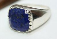 New Cast Men's 10.49 ctw Blue Lapis Lazuli Sterling Silver Eagle Ring Sz 10.25