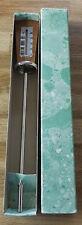 Cognac Thermometer Made in Germany - Gesetzi Geschuitz - Teak In Original Box