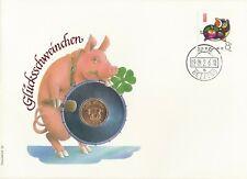 Numisbrief Numiscover Glücksschweinchen 1989 Philswiss