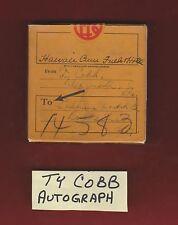 Rare1920's TY COBB AUTOGRAPH  Signed Film Box Auto SGC COA LOA Authentic