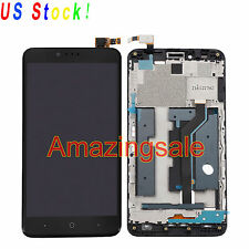 LCD Touch Screen Digitizer Assembly Replacement + Frame For ZTE Zmax Pro Z981 US