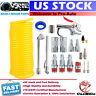 "20pc Air Compressor Accessory Kit Tool 25Ft Recoil Hose Gun Nozzles Set 1/4"" NPT"