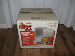 Hot Spot Portable Propane Reddy Heater 3 Setting 15000 20000 25000 BTU RCP25 New