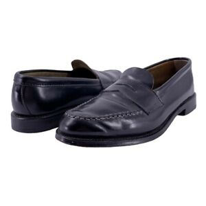 Brooks Brothers Golden Fleece Black Cordovan Leather Penny Loafers Size 8.5 D