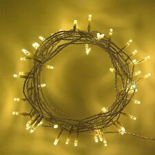80 LED Warm White Battery Operated Christmas Fairy Lights Party Decorations