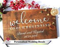 Personalise Wedding Sign Custom Venue Welcome Decor Notice Mirror Vinyl Decal 6
