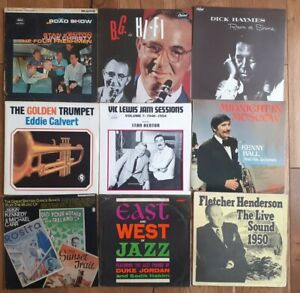 """Job Lot of 40+ Jazz Swing and Big Band 12"""" Inch Vinyl LPs"""