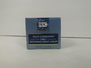 RoC Multi Correxion, 5 In 1 Restoring Night Cream For face & Neck 1.7 oz. New