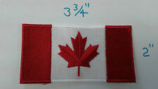 """1 pc CANADIAN FLAG MAPLE Emb patch 3-3/4x2"""" IRON/SEW-ON"""
