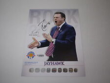 PERRY ELLIS 2013 SIGNED PROGRAM ROSTER PHOTO CARD KANSAS JAYHAWKS BASKETBALL KU