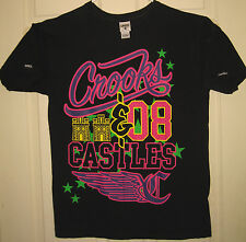 CROOKS AND CASTLES Shirt M 2008 Bright Colors Logo C & C CSTC Style OOP RARE HTF