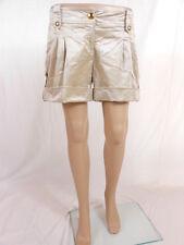 Womens Ivory Shiny Casual Club Evening Sexy Hot Pants Shorts sz L/XL P29