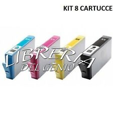 KIT 8 CARTUCCE COMPATIBILI HP 364 XL CON CHIP PER OFFICEJET 4620 NERO + COLORI