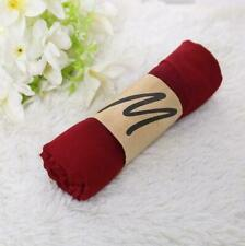 New Wine red Lady Women long candy soft cotton Scarf Wrap Shawl scarves A737