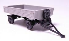 H0 Modelltec Landwirtschaftlicher Anhänger Pritsche Hänger hgrau DDR # 14180804