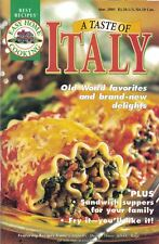 Easy Home Cooking A TASTE OF ITALY #20 2001 Old World Flavor Brand New Delights
