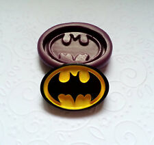 Silicone Mold Bat Man Logo Mould (35mm) Cupcake Topper Jewelry Resin Clay Candy