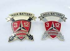 India Battery 3rd Battalion 12th Marines 3/12 Military Unit Badge Pin Lot of 2