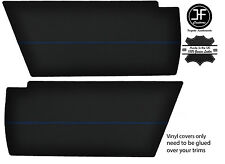 BLUE STITCHING 2x REAR END SIDE PANEL VINYL COVERS FITS VW T25 T3 WESTFALIA