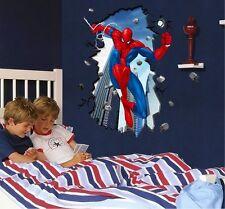 Spiderman XL Adesivi Da Parete Stupefacente Decalcomania Arte Muraria Ragazzi