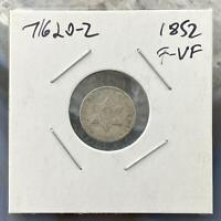 1852 US 3c Cent Silver Stunning Collectible Coin  #71620-2